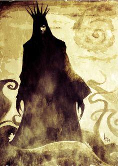 King in Yellow. Art for book 'O Rei de Amarelo', traduction of 1895 book of Robert W. Arte Horror, Horror Art, Dark Fantasy, Fantasy Art, Lovecraft Cthulhu, Hp Lovecraft, Call Of Cthulhu Rpg, Lovecraftian Horror, Eldritch Horror