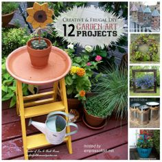 12 {Creative and Frugal} Garden Art Projects Under $20! by 'Empress of Dirt'