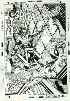 Diversions of the Groovy Kind: Black and White Wednesday: Iconic Gil Kane Original Marvel Art