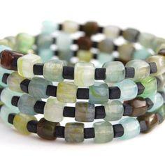 Irish Sea Memory Wire Bracelet