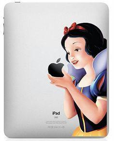 Snow White--iPad Decal iPad Stickers iPad Decals Apple Vinyl Decal for Apple iPad1 / iPad2/ iPad3