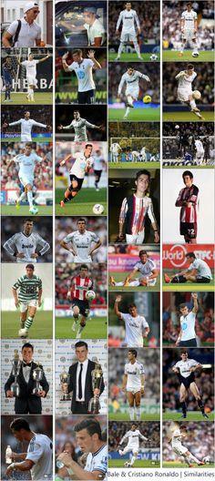 Gareth Bale & Cristiano Ronaldo similarities