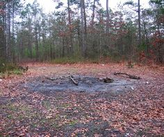 Devil's Tramping Ground, North Carolina - Deep in the woods near Harper's Crossroads, about 10 miles east of Siler City, there's a mysterious 40-foot ring where the devil stomps in circles each night, plotting how to bring about the downfall of mankind—or so the story goes. Even the North Carolina State Department of Agriculture has supposedly taken samples of the soil and has yet to come up with an explanation for why the patch is devoid of growth.