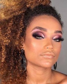 black women's makeup a Glam Makeup, Makeup 101, Dramatic Makeup, Cute Makeup, Girls Makeup, Eyeshadow Makeup, Beauty Makeup, Makeup Looks, Hair Makeup
