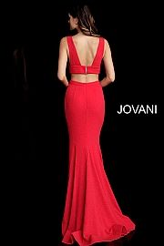 43350e529c two piece sweeping train sleeveless red dress 64857 Fitted Prom Dresses