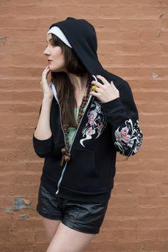 Vulture Sweatshirt  Vulture Fashion Hoodie  Signature Bear Tank Photography Synthetic Shadows: www.syntheticshadows.com Model: Erica Jay http://ericajay.tumblr.com/ #bears #fashion #apparel #clothing #hipster #indie #grunge #streetwear #womensfashion #trends #newclothes #photography #design #clothing design #urban #philadelphia #photo shoot #model #ladies