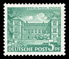 Deutsche Post Berlin 1949 Tegeler Schloss Briefmarken