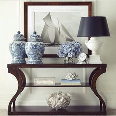 """""""One of our favourite console table images -regram from @frenchandhamptons  #inspiration #home #console #hallway #lamp #art #homeware #furnishings #furniture #homeinspo #interior #design #interiordesign #decor #vase"""" Photo taken by @lillyandhope on Instagram, pinned via the InstaPin iOS App! http://www.instapinapp.com (02/16/2015)"""