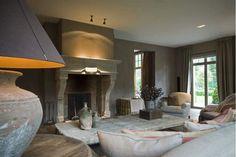 Stone-Linen-Wood - beautiful Belgian Sitting Room