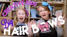 Creative Kids - Big Hair Bows - Tutorial - Make Them Yourself! - YouTube - diy hair bows