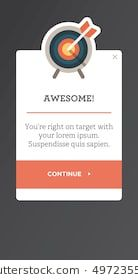 Modal Window for Mobile UI and UX interface and experience design