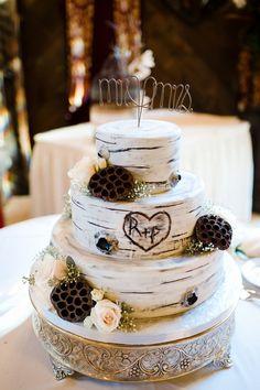 Rustic Style Wedding Cake