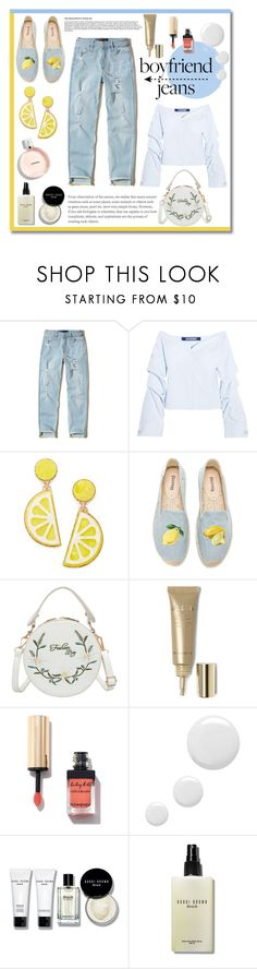 """Blue & Yellow"" by soivana ❤ liked on Polyvore featuring Hollister Co., Jacquemus, Celebrate Shop, Soludos, Stila, Topshop, Bobbi Brown Cosmetics, yellow, Blue and jeans"