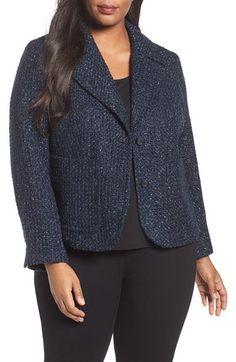 9b785dbc7da57 MICHAEL Michael Kors Tweed Shrunken Blazer (Plus Size)