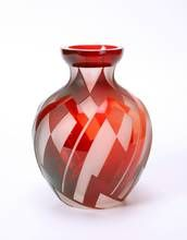 Belgian Art Deco glass vase by Paul Bernard for Gobena.