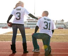 While i would only do this if I were marrying a professional football player (hint hint), I think it's super cute.