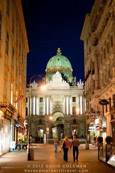 Vienna streets by night