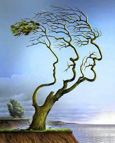 Les arbres nous cachent t'ils leur talent d'artiste...ou l'artiste s'inspire t'il de leurs formes ?