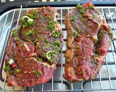 Steak in Kräutermarinade  #Rezept #Grillen