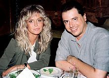 Fawcett with Craig J. Nevius, the director of Chasing Farrah and Farrah's Story, in 2008