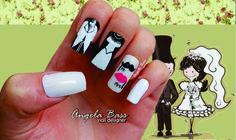 uñas para novia/ bride nails