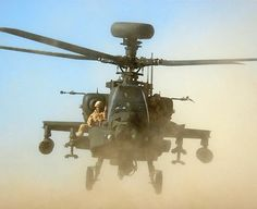Marines strapped to Apache helicopter