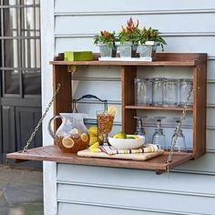 outdoor, foldaway bar