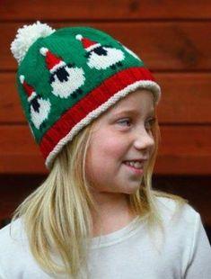 Ravelry: Fleece Navidad pattern by Cynthia Spencer Fair Isle Knitting Patterns, Fair Isle Pattern, Knit Patterns, Knitting Yarn, Baby Knitting, Knitting Stitches, Knit Crochet, Crochet Hats, Children's Knitted Hats