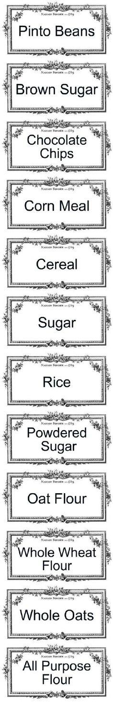 Printable pantry labels.