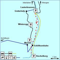 Duur: 1h45 Afstand: 6.5 km Categorie: eenvoudig. De wandeling tussen Lauterbrunnen en Stechelberg is erg gemakkelijk. Je kunt hem ook nog eens onderbreken, want de bus rijdt erlangs. Voor rustzoekers is dit zeker een aanrader. U kunt deze wandeling ongeveer halverwege onderbreken met een bezoekje aan de Trümmelbachfälle. Onderweg komt u langs enkele mooie watervallen, zoals de bekende Staubbachfall . Vlak voor Stechelberg komt u langs de kabelbaan die u naar het hooggelegen Mürren kan…