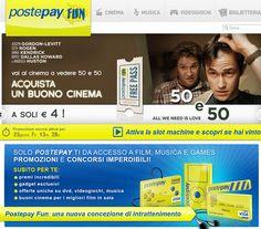 PostePay Fun il portale di Poste Italiane dedicato al mondo dell'intrattenimento e dell'e-commerce