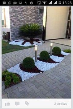 70 Magic Side Yard and Backyard Gravel Garden Design Ideas - Garten Courtyard Landscaping, Backyard Garden Design, Yard Design, Front Yard Landscaping, Landscaping Ideas, Backyard Ideas, Inexpensive Landscaping, Florida Landscaping, Sloped Backyard