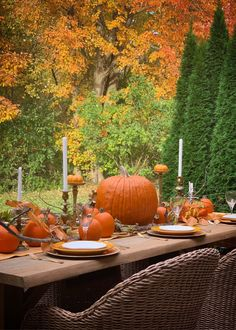 Outdoor Thanksgiving Table Scape - Haneen's Haven