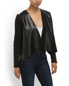 Draped Ponte Accents Jacket