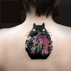 Body – Tattoo's – Wasserfarben-Totoro - Body – Tattoo's Image Descripti. - Body – Tattoo's – Wasserfarben-Totoro – Body – Tattoo's Image Description Wasserfarben - Tatoo Henna, 1 Tattoo, Body Art Tattoos, New Tattoos, Henna Art, Tatuaje Studio Ghibli, Studio Ghibli Tattoo, Miyazaki Tattoo, Hanya Tattoo