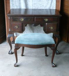 Antique Ladies Desk /Vanity with Dressing by poppycottage on Etsy, $895.00