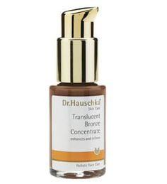Dr. Hauschka Translucent Bronze Concentrate is essential to your skin care treatment for that sun-kissed glow. Use daily along with your Dr. Hauschka face moisturizer and your blemishes disappear.  May be used on all Skin Conditions. Formulated with anthylls, witch hazel, bark leaf extract and beeswax. $39.95