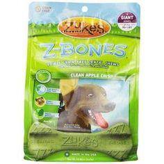 ZUKES Z-BONES CLEAN APPLE CRISP GIANT DENTAL CHEW 4 PACK - BD Luxe Dogs & Supplies