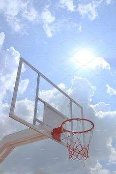 Basketball hoop in the blue sky Basketball Pictures, Basketball Hoop, Basketball Couples, Basketball Bedroom, Fantasy Basketball, Basketball Design, Basketball Birthday, Kentucky Basketball, Kentucky Wildcats