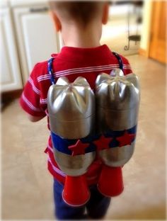 Jet pack costume for your kid made out of SOLO cups #Halloween #DIY #Crafts