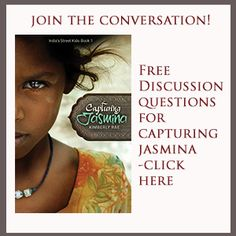 Answer a question on the blog for a chance to win a FREE copy of Capturing Jasmina!  Questions today include: 1. Do you think living on the streets would be more dangerous in India or in the US? Why?  6. Can you think of a time in the Bible where a person was sold?   http://www.kimberlyrae.com/capturing-jasmina-disc-questionscultural-notes-sect-2/