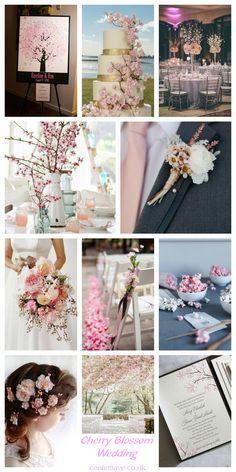 Cherry Blossom Wedding | Mood Board http://confettiave.co.uk/cherry-blossom-wedding-mood-board