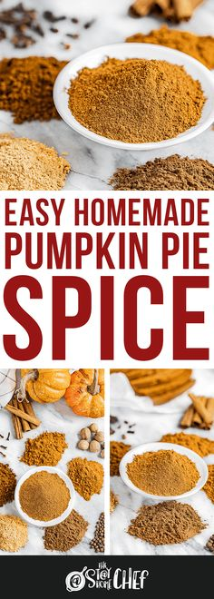 Easy Homemade Pumpkin Pie Spice takes just 5 minutes to make your own spice blend, ready to use in all of your favorite fall recipes. Homemade Pumpkin Pie Spice Recipe, Homemade Brownie Mix, Best Homemade Bread Recipe, Pumpkin Recipes, Pumpkin Spice, Chef Recipes, Seafood Recipes, Thanksgiving Recipes