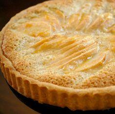 pear ginger frangipane tart