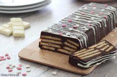 Mattonella al cioccolato e biscotti fredda, senza forno