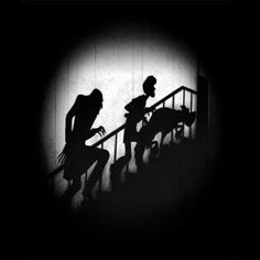 Upstairs.   #Nosferatu #ScoobyDoo #Shaggy #MashUp #shadows