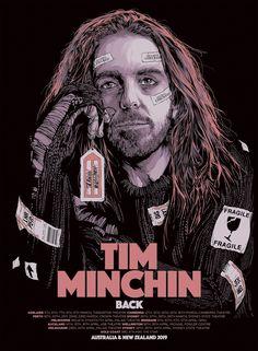 2019 Tim Minchin - Australia/New Zealand Tour Concert Poster by Ken Taylor Tour Posters, Cinema Posters, Concert Posters, Music Posters, Allen Williams, Ken Taylor, A Princess Of Mars, Alex Garcia, Alex Pardee