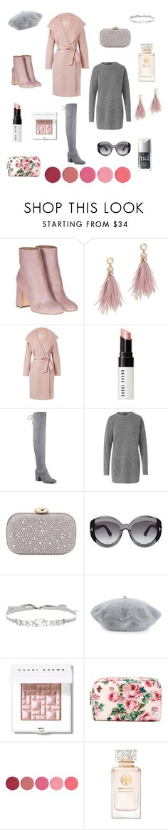 """""""Pink & Grey All Day, Everyday💕"""" by cheerdoe ❤ liked on Polyvore featuring Laurence Dacade, Lizzie Fortunato, MaxMara, Bobbi Brown Cosmetics, Ivanka Trump, Love Moschino, Tom Ford, Jenny Packham, Helene Berman and Dolce&Gabbana"""
