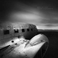 Airplane wreckage, Iceland