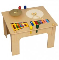 Childs Music Table with xylophones and drums